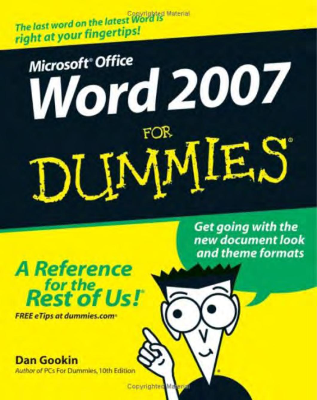 Microsoft word 2007 for dummies fandeluxe Gallery