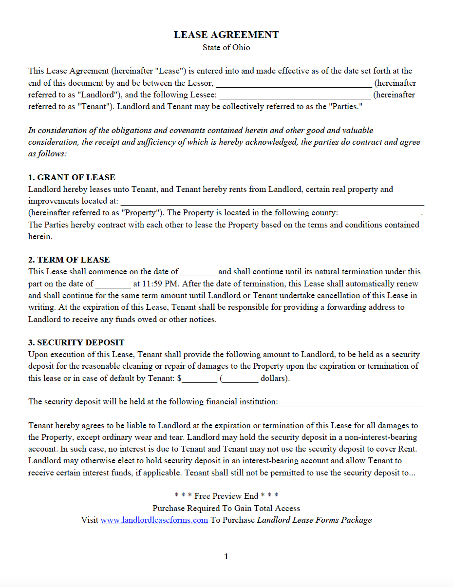 All 50 States Residential Lease Agreement Landlord Lease Forms
